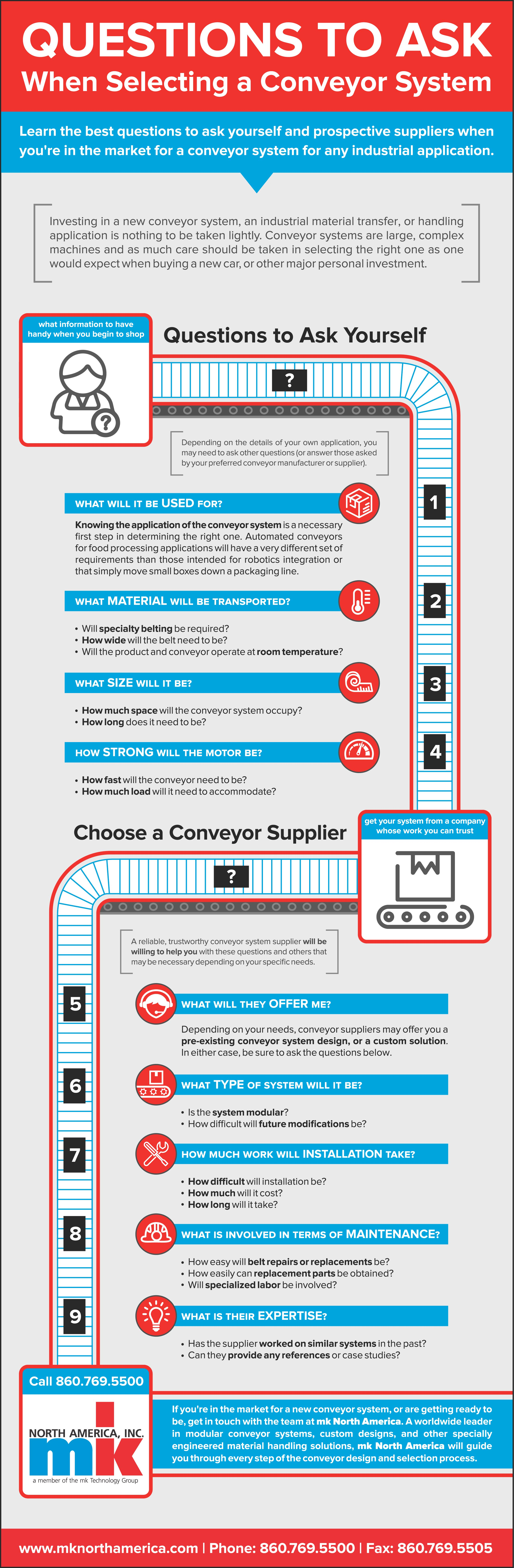 questions to ask when selecting a conveyor system infographic questions to ask when selecting a conveyor system