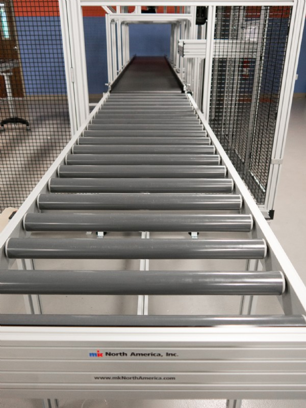 Roller Conveyor with Guard