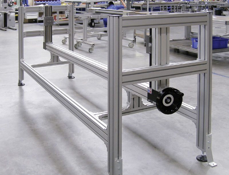 extruded aluminum t slot frame with linear module