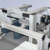 Flat belt conveyors used as grippers with linear module
