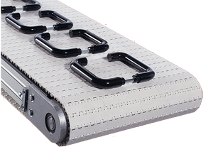 mk plastic modular belt conveyor carrying handles
