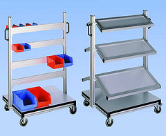 Two Extruded Aluminum Shelves