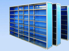 Industrial Storage Shelving Made from Extruded Aluminum