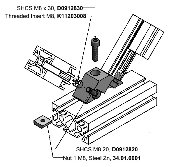 Angle Blocks | Multi-Angle & Parallel Aluminum Connectors | Aluminum ...