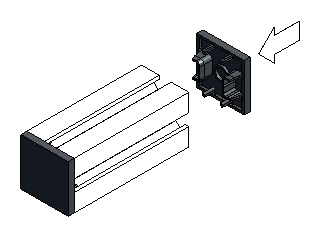 Diagram of End Caps Applies to T-Slot Aluminum Profiles