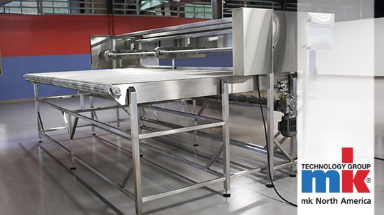 High temperature conveyor with metal mesh belting from mk North America
