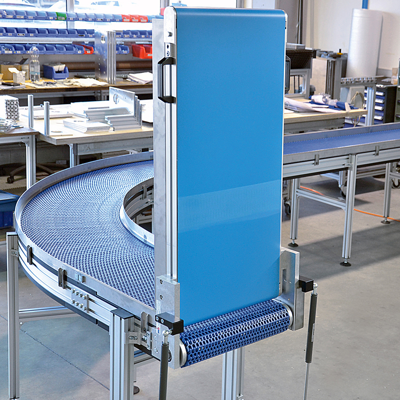 Lift gate conveyor for line access