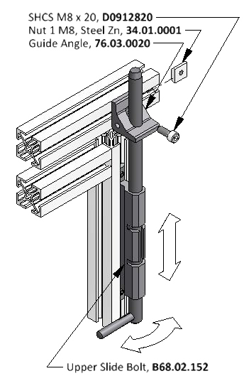 Door Side Bolt Diagram for Aluminum Framing Systems