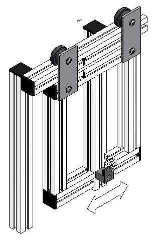 Roller Assemblies for Sliding Doors | Aluminum Framing | mk