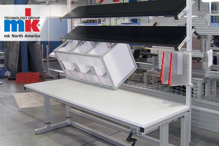 114f9f96345da An ergonomic industrial workstation made using mk North America t-slot  extrusions.