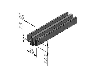 Upper and Side track for Lift Out Windows - Series 25