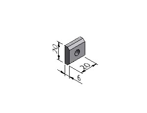 Square Nut ESD - Series 40 & 50