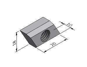 Slot Nut - Series 60