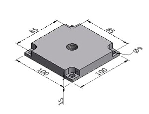 Pad Plate C, For 100x100 mm Profile