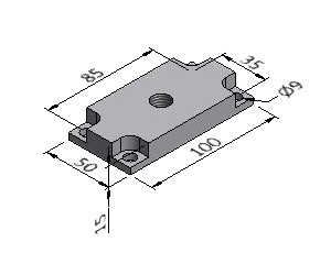 Pad Plate B, For 50x100 mm Profile