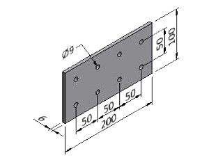 Plate 17, Joining Plates - Heavy Duty, Aluminum Profile Connectors - 90° Right Angles, Aluminum Connectors