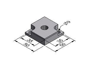 Pad Plate A, For 50x50 mm Profile