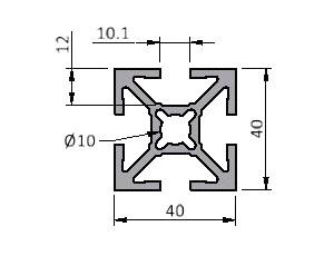Profile Series 40 | 40 x 40 Standard | Aluminum Extrusions