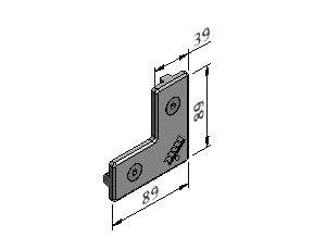 L-Plate Kit, Joining Plates - Quick Connect, Aluminum Profile Connectors - 90° Right Angles, Aluminum Connectors