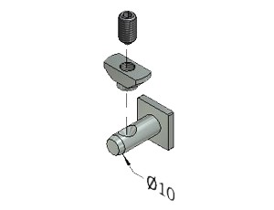 Tension Fastener, Series 40, Stainless Steel, Tension Fasteners, Aluminum Profile Connectors - 90° Right Angles, Aluminum Connectors