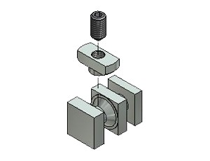 Tension Fastener, Series 50, Zn 8.8, Tension Fasteners, Aluminum Profile Connectors - 90° Right Angles, Aluminum Connectors