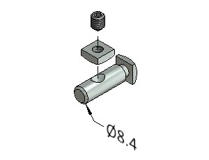 Tension Fastener, Series 25, Zn 8.8, Tension Fasteners, Aluminum Profile Connectors - 90° Right Angles, Aluminum Connectors