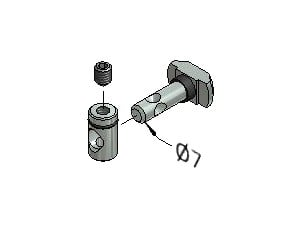 Tension Fastener, Series 40, Zn 8.8, Tension Fasteners, Aluminum Profile Connectors - 90° Right Angles, Aluminum Connectors