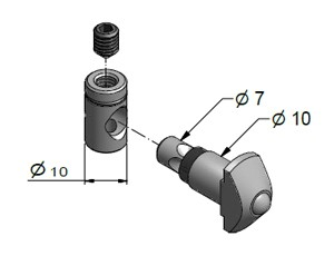 Tension Fastener, Series 40, Steel Zn, Tension Fasteners, Aluminum Profile Connectors - 90° Right Angles, Aluminum Connectors