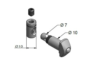 Parallel Connector, End-to-End Fasteners, Multi-Angle & Parallel Aluminum Connectors, Aluminum Connectors