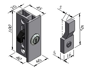 External Lock and Catch - Series 40