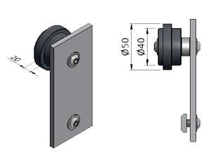 Roller emblies for Sliding Doors | Aluminum Framing | mk on