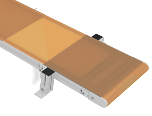 Back lit conveyor rendering