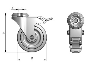 Swivel Caster, 50 mm
