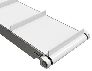 mk offers the CCB-400 a stainless steel cleated belt conveyor in our CleanMove Plus series.