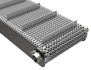 mk offers the CMP-400 a stainless steel cleated plastic modular belt conveyor in our CleanMove Plus series.