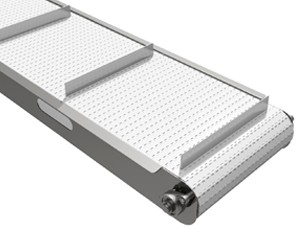 mk offers the CCM-600 sanitary stainless steel conveyor which features a cleated plastic modular belt. Ideal when washdown conveyors are required.