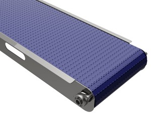 mk offers the CMP-600 CleanMove Ultra plastic modular belt stainless steel washdown rated conveyor. This is a sanitary conveyor for protein foods.