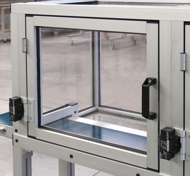 Extruded Aluminum Enclosure with a Glass Door
