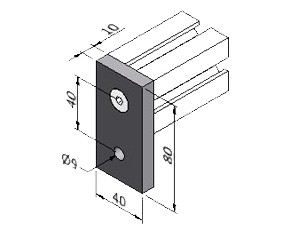 Wall Attachment for Profile mk 54.01