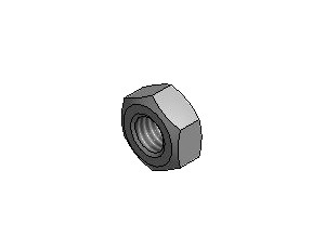 Hex Nuts DIN 0934, 8.8 Zn