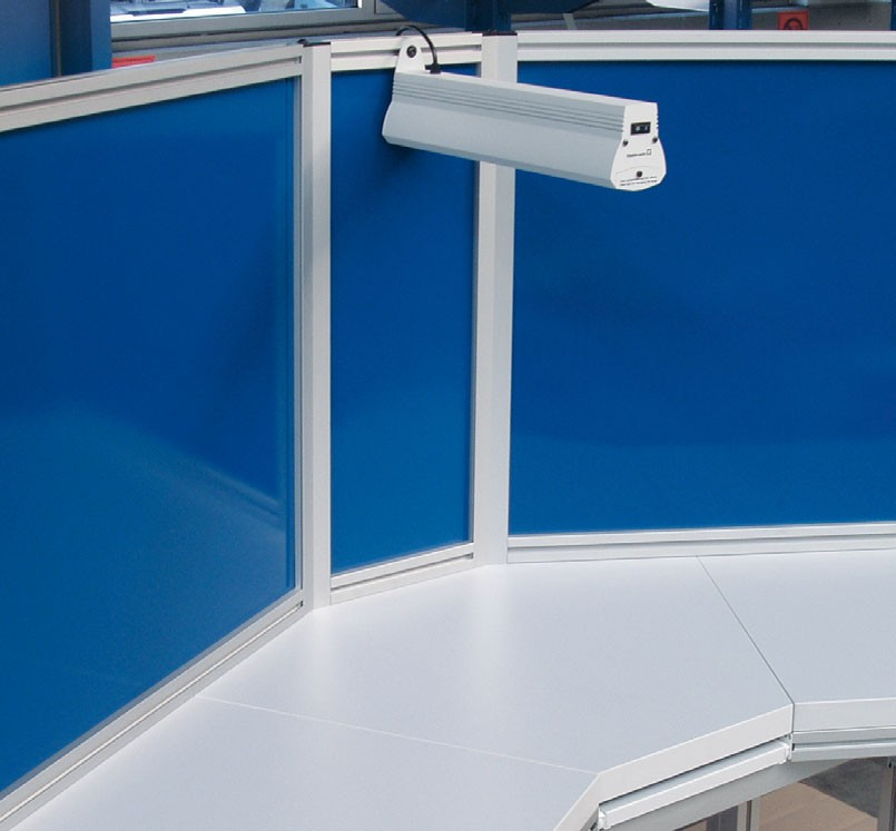 Cubicle Workstation Made with Extruded Aluminum