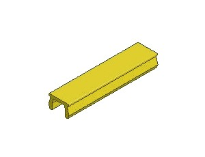 T-Slot Cover, Series 40 & 50, Yellow