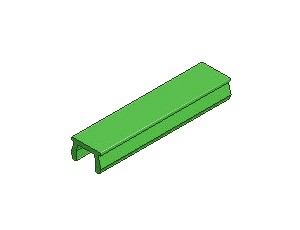 T-Slot Cover, Series 40 & 50, Green