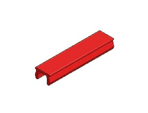 T-Slot Cover, Series 40 & 50, Red