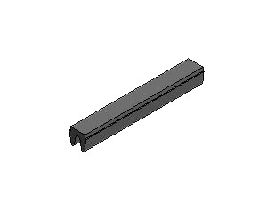 T-Slot Cover, Series 25, Black