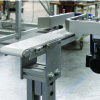Flat belt conveyor with custom side rails