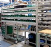 Factory Shelving Made from Extruded Aluminum